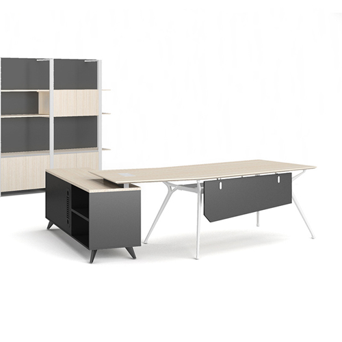 Credenza Executive Desk with Side Cabinet Image 1
