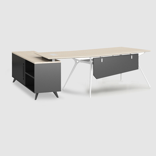 Credenza Executive Desk with Side Cabinet Image 3