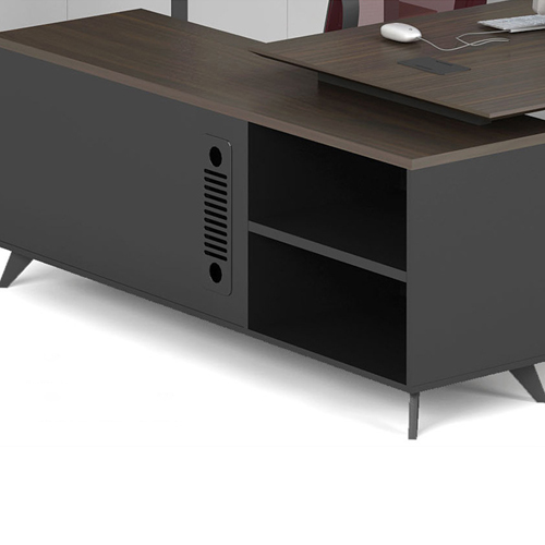Credenza Executive Desk with Side Cabinet Image 8
