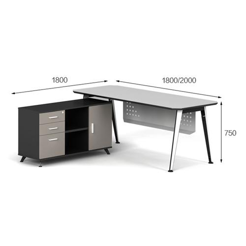 Executive Metal Frame Office Desk Image 13