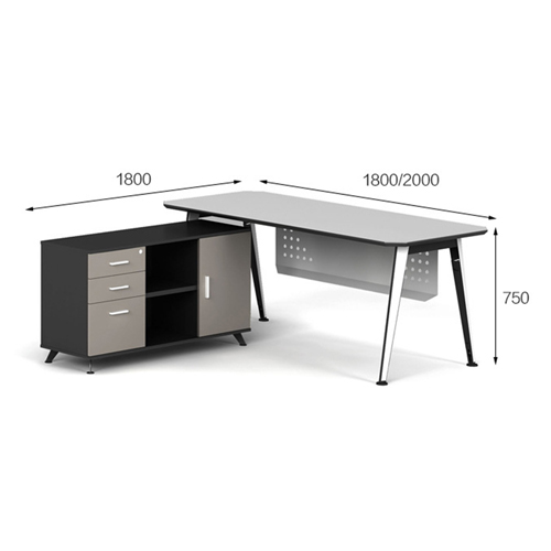 Executive Metal Frame Office Desk
