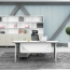Executive Metal Frame Office Desk Image 2