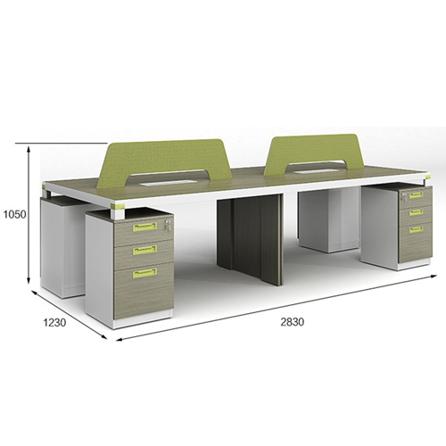 Professional Four Seater Computer Desk with Screen Partition Image 10