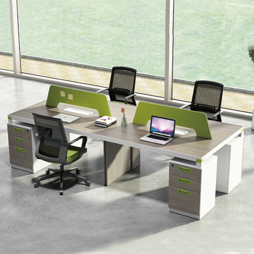 Professional Four Seater Computer Desk with Screen Partition