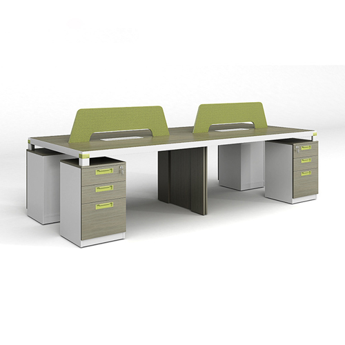Professional Four Seater Computer Desk with Screen Partition Image 1