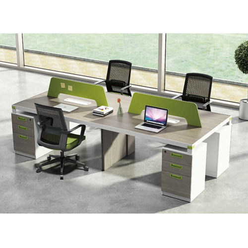 Professional Four Seater Computer Desk with Screen Partition Image 3