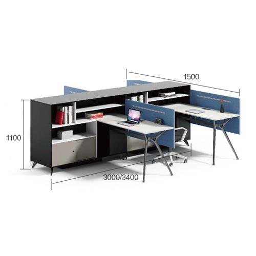Elegant Design H-Shape Office Workstation Image 14
