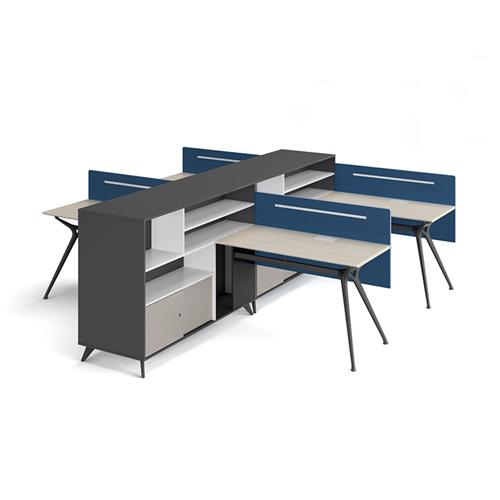 Elegant Design H-Shape Office Workstation Image 3