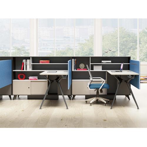 Elegant Design H-Shape Office Workstation Image 4