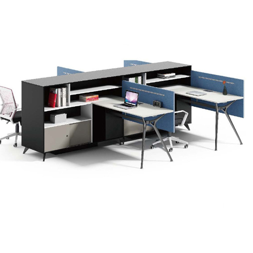 Elegant Design H-Shape Office Workstation Image 7