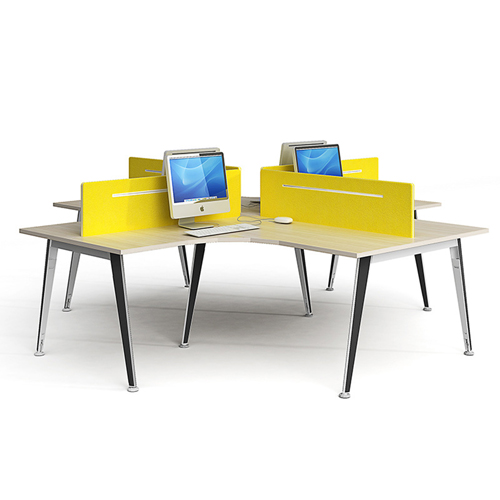 Open Computer Staff Workstation With adjustable feet