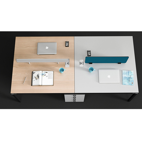 Four Person Work Staff Table With Screen Partition Image 12