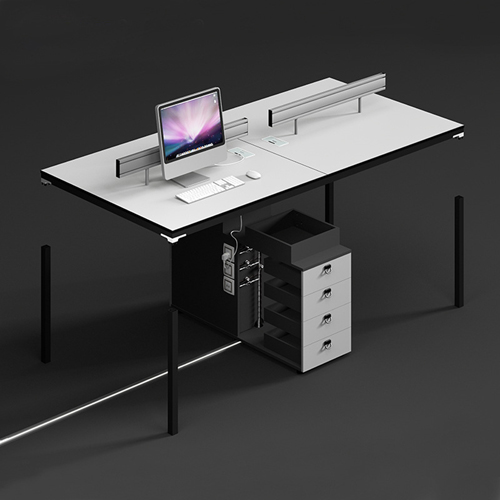 Four Person Work Staff Table With Screen Partition Image 3