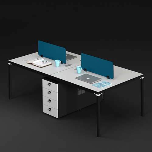 Four Person Work Staff Table With Screen Partition Image 4