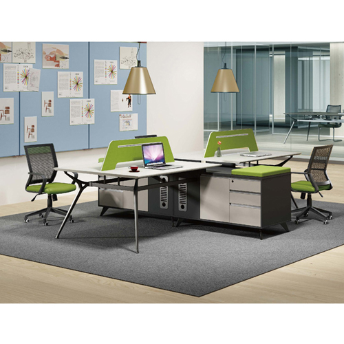 Minimalist Screen Partition Desk with Cabinet Image 6