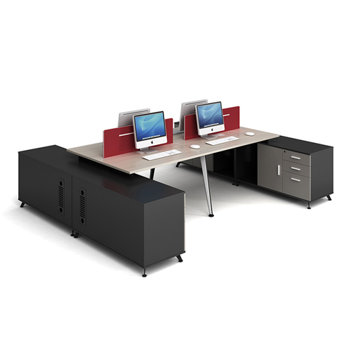 Modular Computer Staff Desk with Cabinet