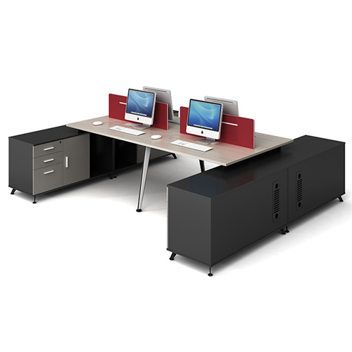 Modular Computer Staff Desk with Cabinet Image 5