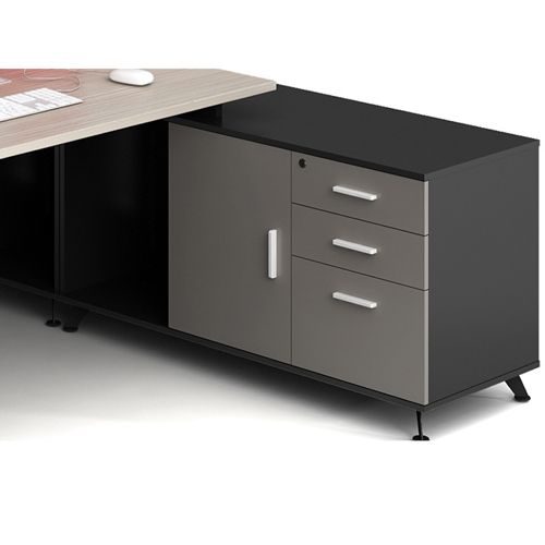 Modular Computer Staff Desk with Cabinet Image 7