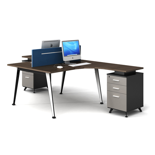 Corner Style Workstation with Fabric Partition