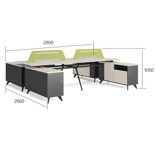 Professional Luxury Workstation with Screen Partition Image 13