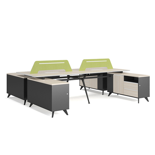 Professional Luxury Workstation with Screen Partition