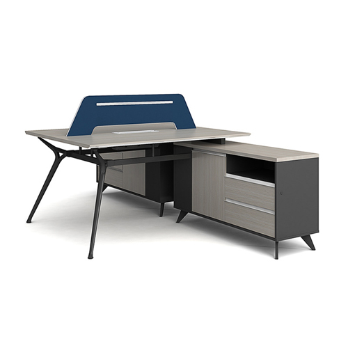Professional Luxury Workstation with Screen Partition Image 1
