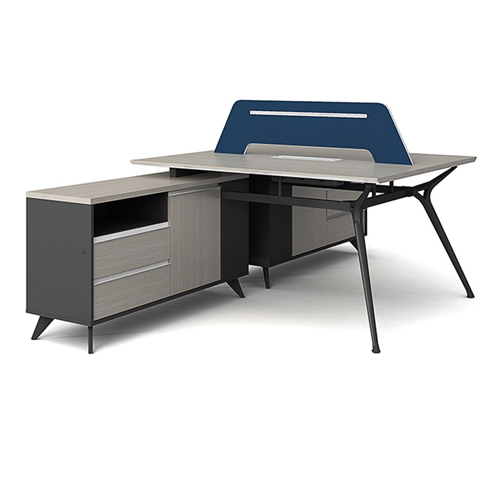 Professional Luxury Workstation with Screen Partition Image 8