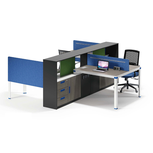 Computer Table Screen Staff Desk with Cabinet