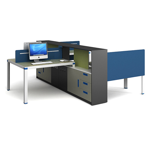 Computer Table Screen Staff Desk with Cabinet Image 4
