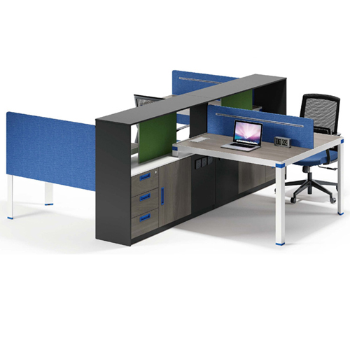 Computer Table Screen Staff Desk with Cabinet Image 5