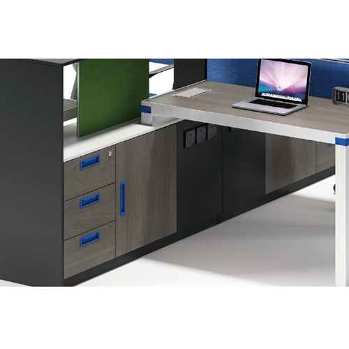 Computer Table Screen Staff Desk with Cabinet Image 8