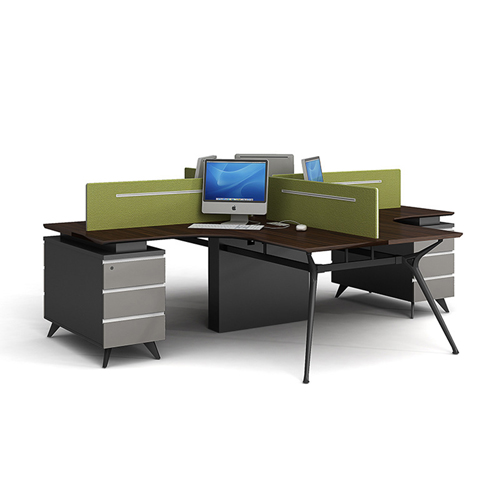 Cross Working Cubicle Cluster Staff Workstation Image 1