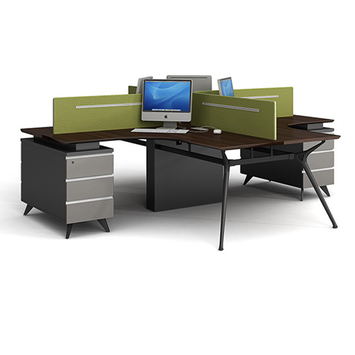 Cross Working Cubicle Cluster Staff Workstation Image 7