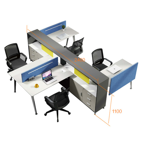 Four Seater Professional Training Cubicle Workstation Image 11