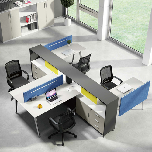 Four Seater Professional Training Cubicle Workstation