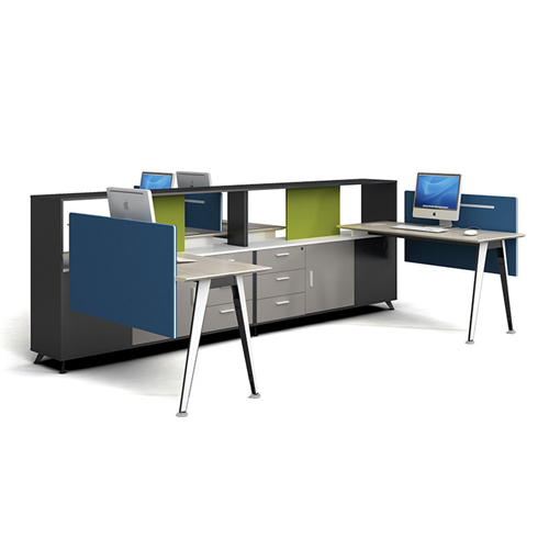 Four Seater Professional Training Cubicle Workstation Image 1