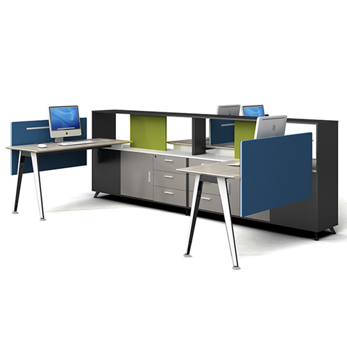 Four Seater Professional Training Cubicle Workstation Image 4