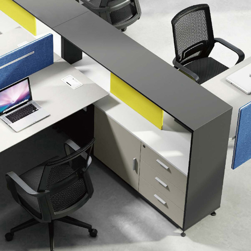 Four Seater Professional Training Cubicle Workstation Image 6