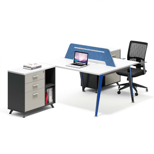 Modern Two Seater Office Staff Desk with Drawer
