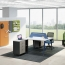 Modern Two Seater Office Staff Desk with Drawer Image 1