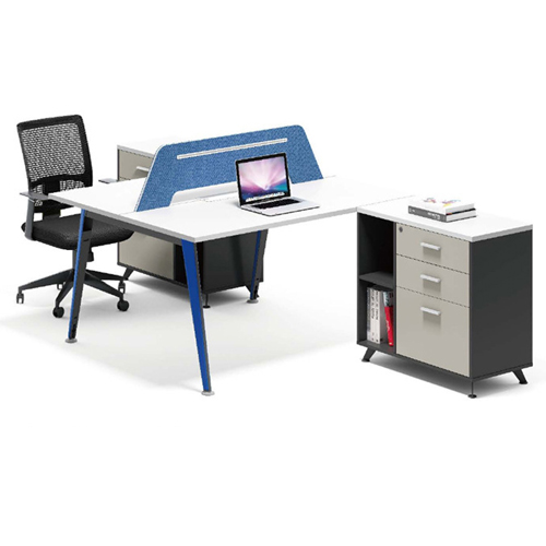 Modern Two Seater Office Staff Desk with Drawer Image 5