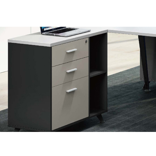 Modern Two Seater Office Staff Desk with Drawer Image 7