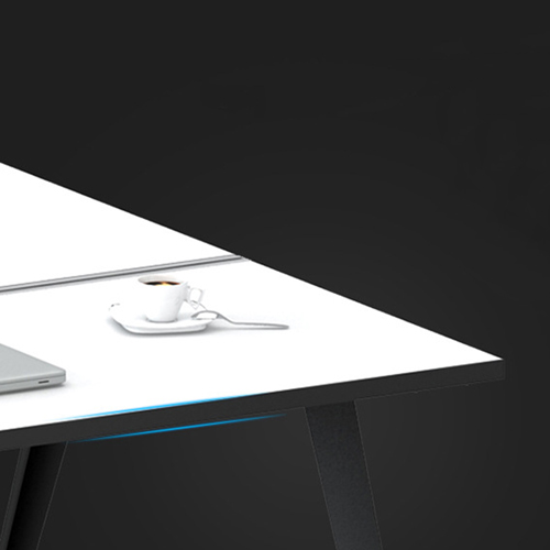 Modern Two Seater Office Staff Desk with Drawer Image 8