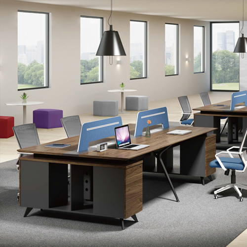 Four Seater Linear Screen Partition Office Workstation