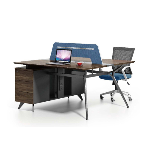 Four Seater Linear Screen Partition Office Workstation Image 1