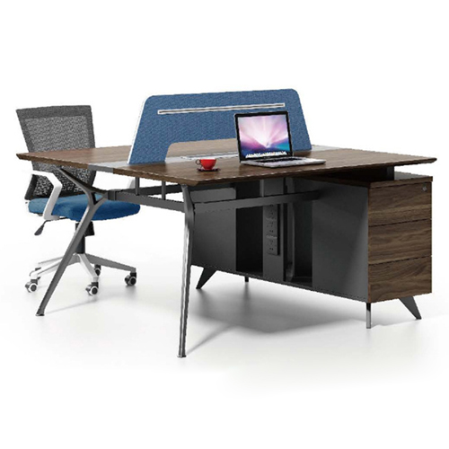 Four Seater Linear Screen Partition Office Workstation Image 5