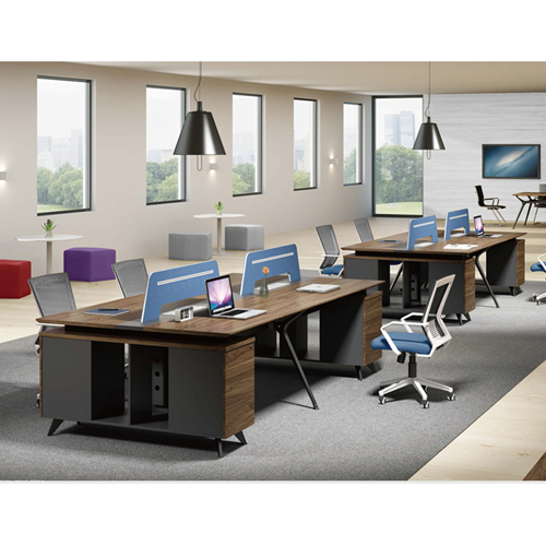 Four Seater Linear Screen Partition Office Workstation Image 6