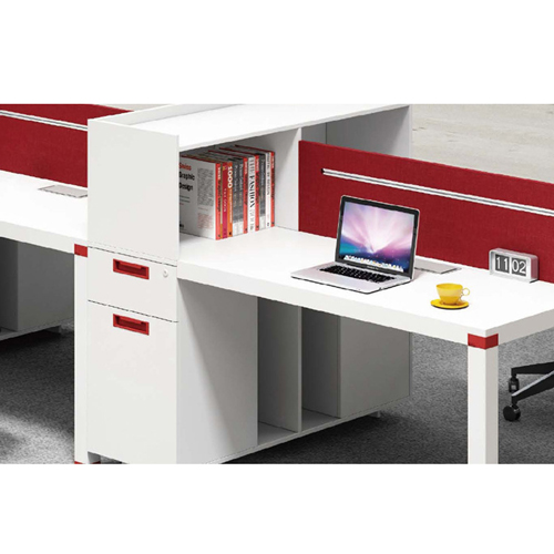 Screen Partition Staff Desk with Side Storage Image 10