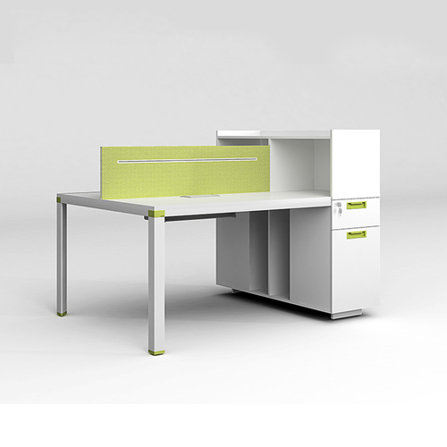 Screen Partition Staff Desk with Side Storage Image 3
