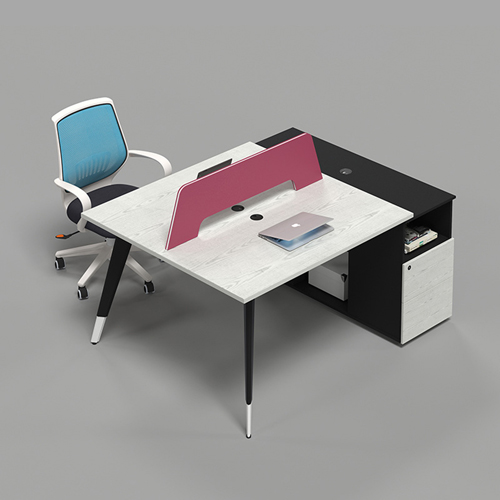 Staff Cabinet Office Workstation with Screen Partition
